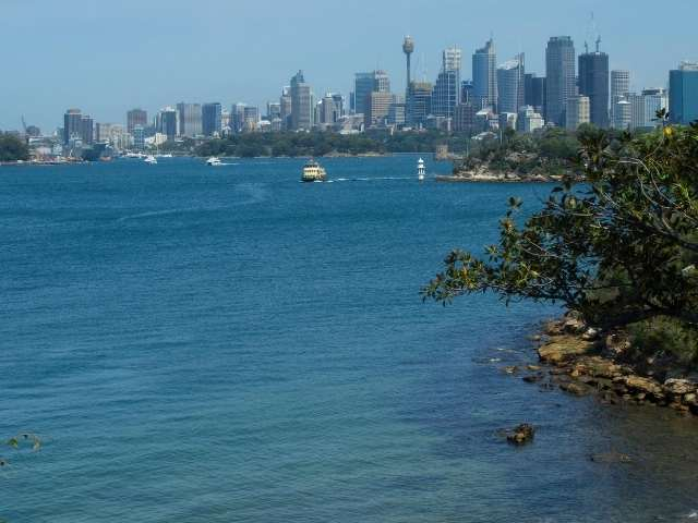 View from a bay near Chowder Bay