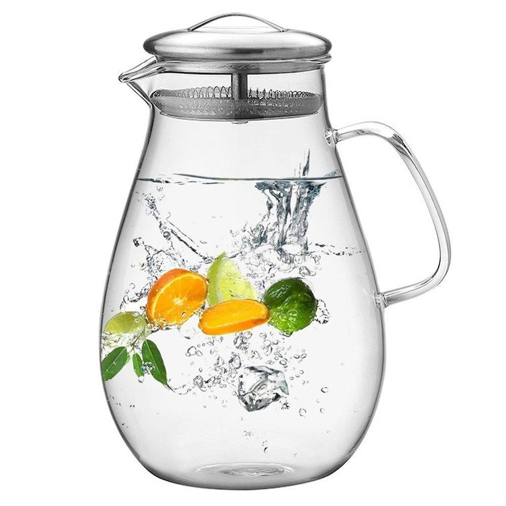 Hiware Glass Water Infuser Pitcher
