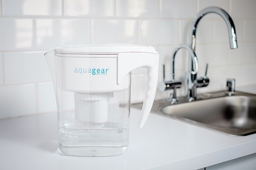 Aquagear Water Filter Pitcher On Counter