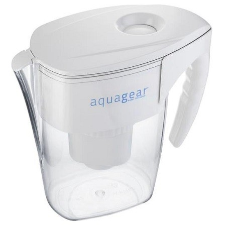 Aquagear Water Filter Pitcher On White Background