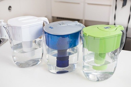 Three Different Water Filter Pitchers