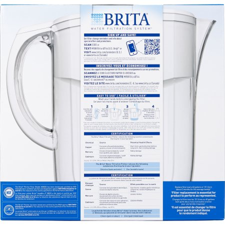 Brita 10 Cup Everyday Water Pitcher Instructions