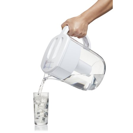 Pouring Water With Brita 10 Cup Everyday Water Pitcher