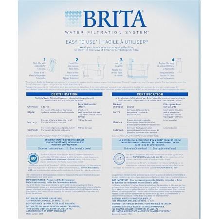 Brita Large 18 Cup UltraMax Water Dispenser And Filter Manual