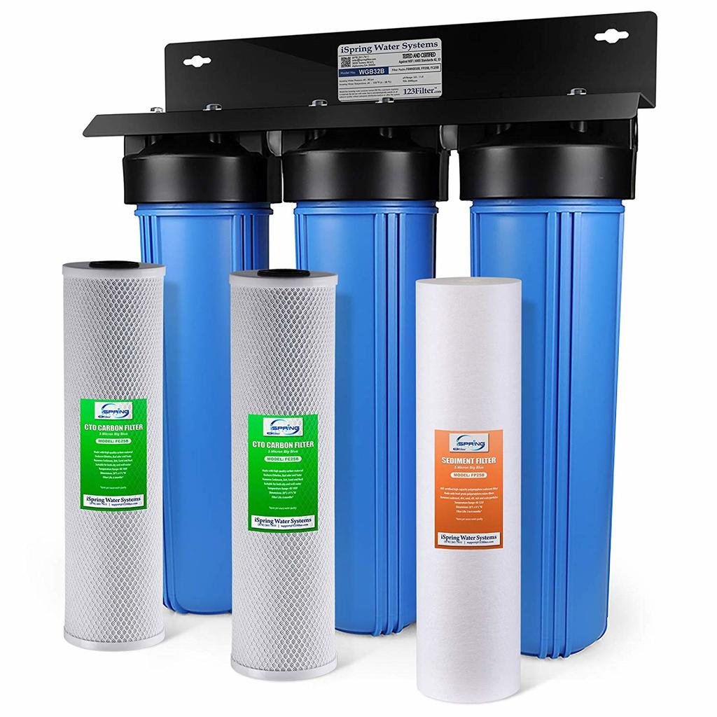 iSpring WGB32B 3 Stage Whole House Water Filter