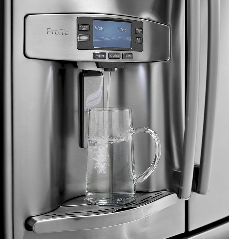 Fridge Water Filter In Use
