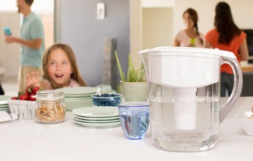Water Filtration Pitcher On Table