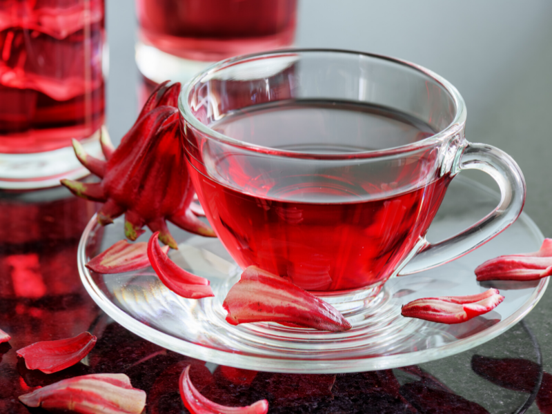 cup of hibiscus tea for women's health
