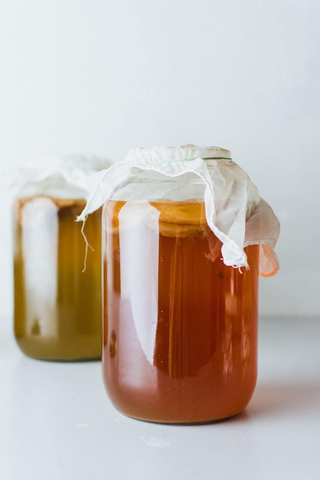 jars of kombucha, healthy alternative to soda