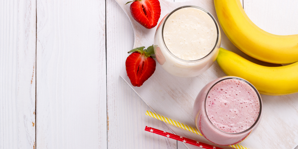 A Photo Of Strawberry And Banana Smoothie