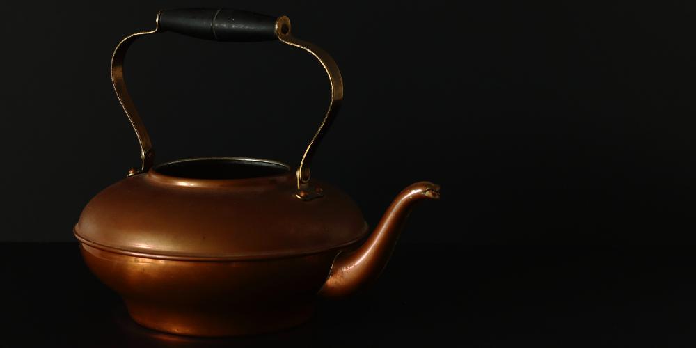 A Photo Of A Copper Tea Kettle