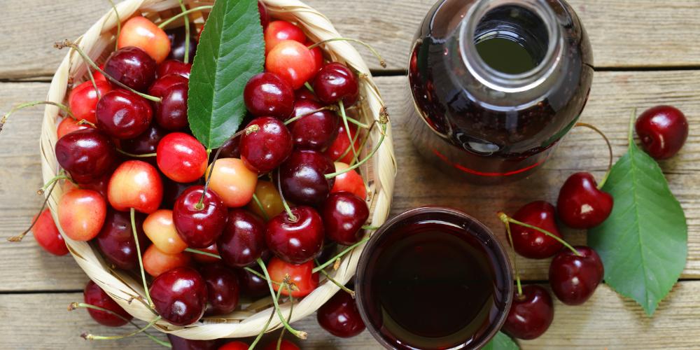 A Basket Full Of Tart Cherries