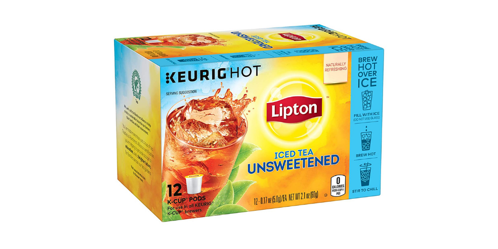 A Photo Of Lipton Unsweetened Iced Tea