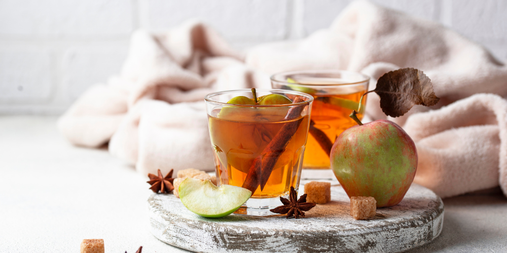 A Glass Of Spicy Apple Cider Drink