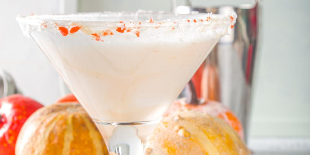 A Glass Of Alcohol-Free Pumpkin Baileys Martini