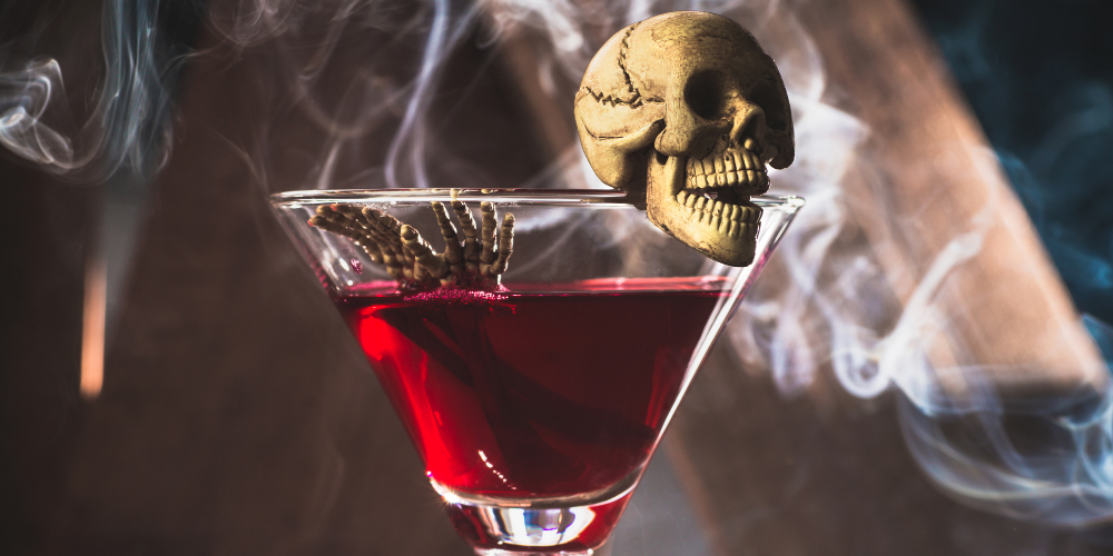 A Glass Of Fruity Cobweb Martini