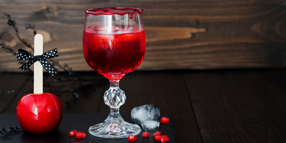 A Glass Of Halloween Town Sour Drink