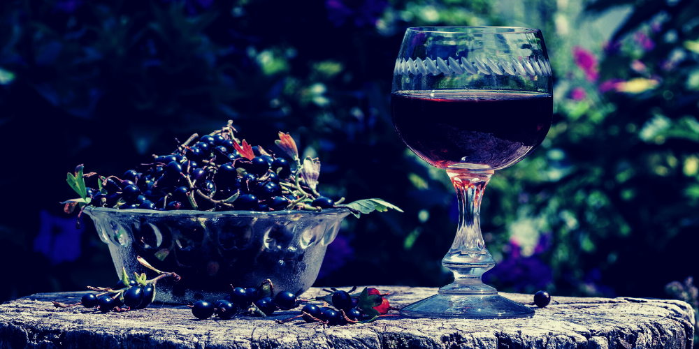 A Glass Of Dracula's Blackcurrant Cordial Drink