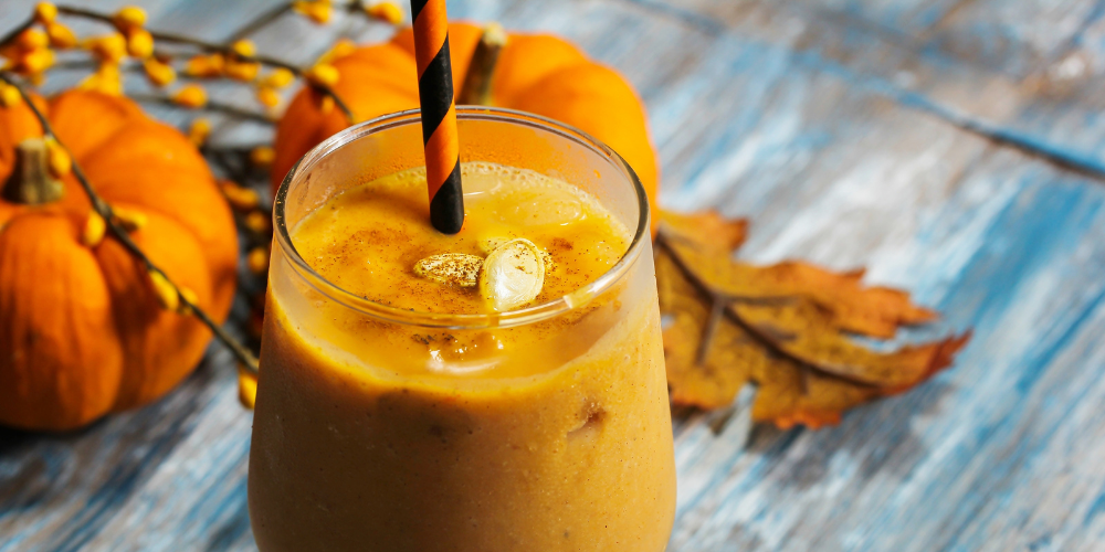 A Photo Of A Spiced Pumpkin Smoothie