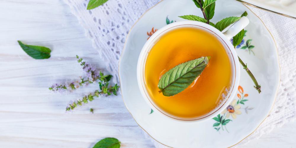 A Photo Of Peppermint Tea