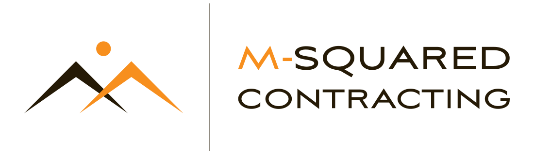 Logo for M-Squared Contracting, general contractor in Toronto, specializing in major home renovations and custom home building
