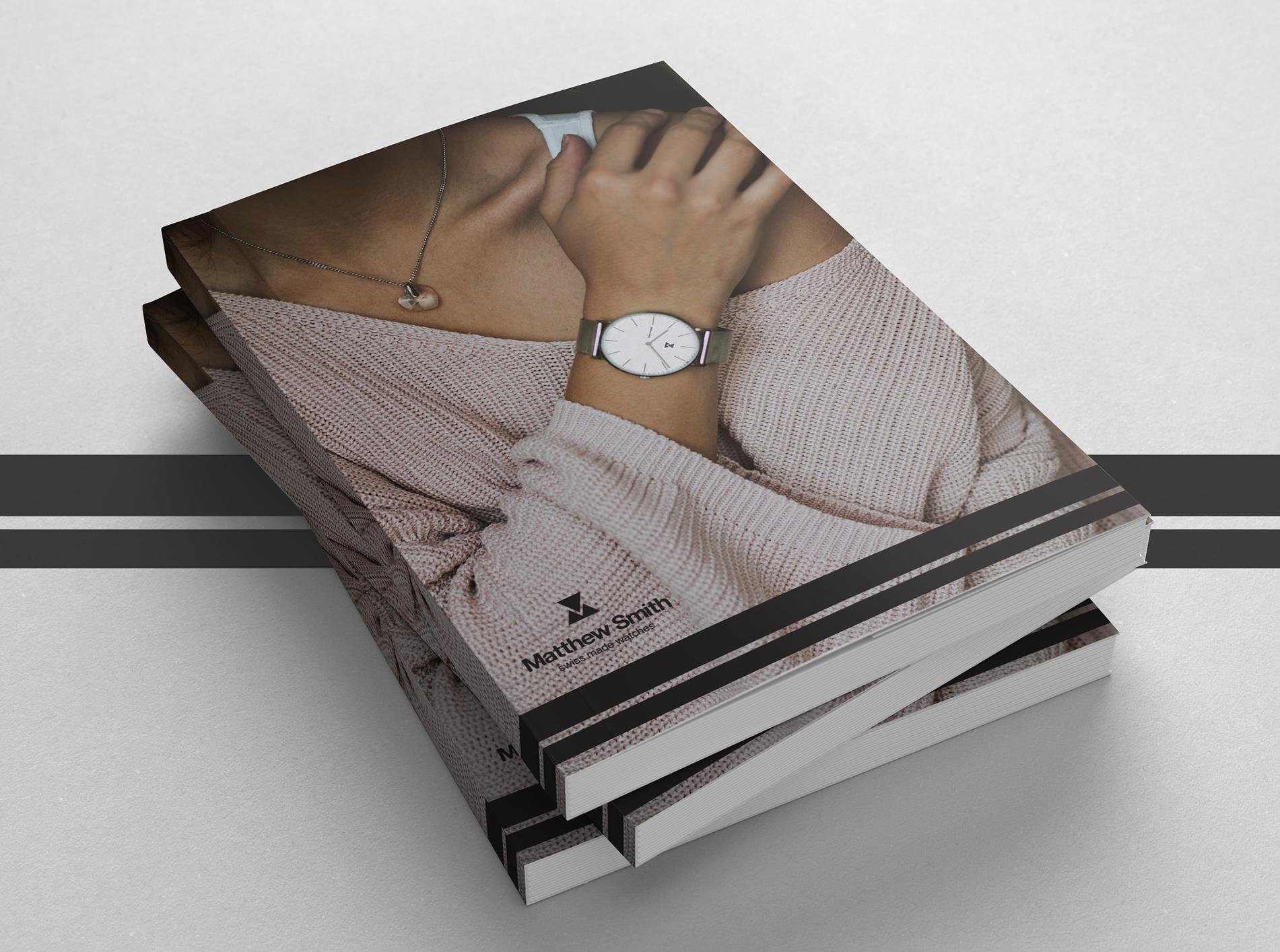 Magazine design for premium watches