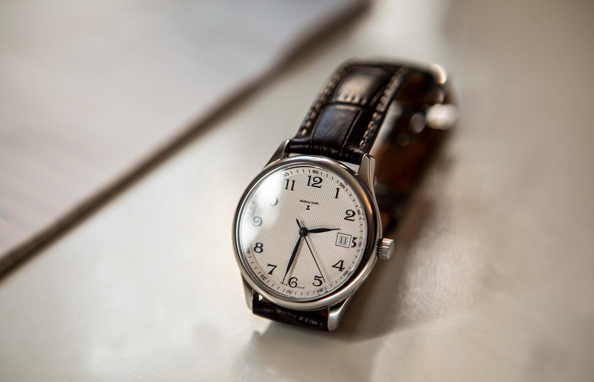 Swiss made watch Matthew Smith logo design https://www.linkedin.com/in/martin-andonov-445148163/
