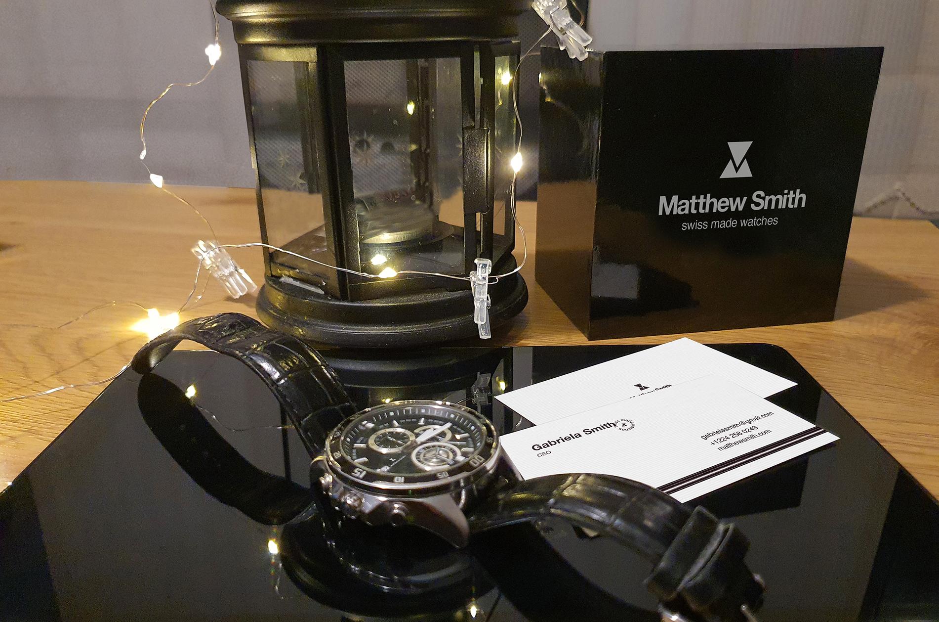 Premium watches logo desing