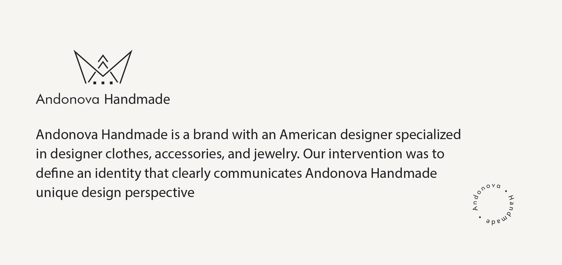 Andonova design fashion brand branding