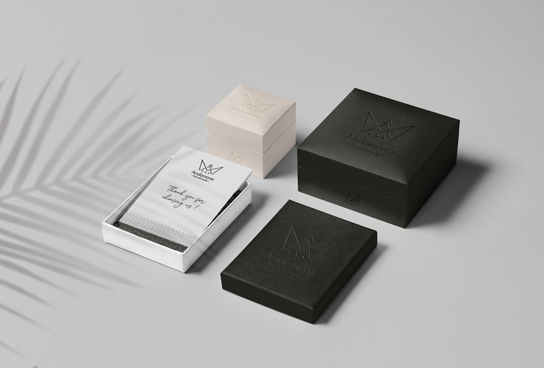 Branding for Andonova hand made jewelry