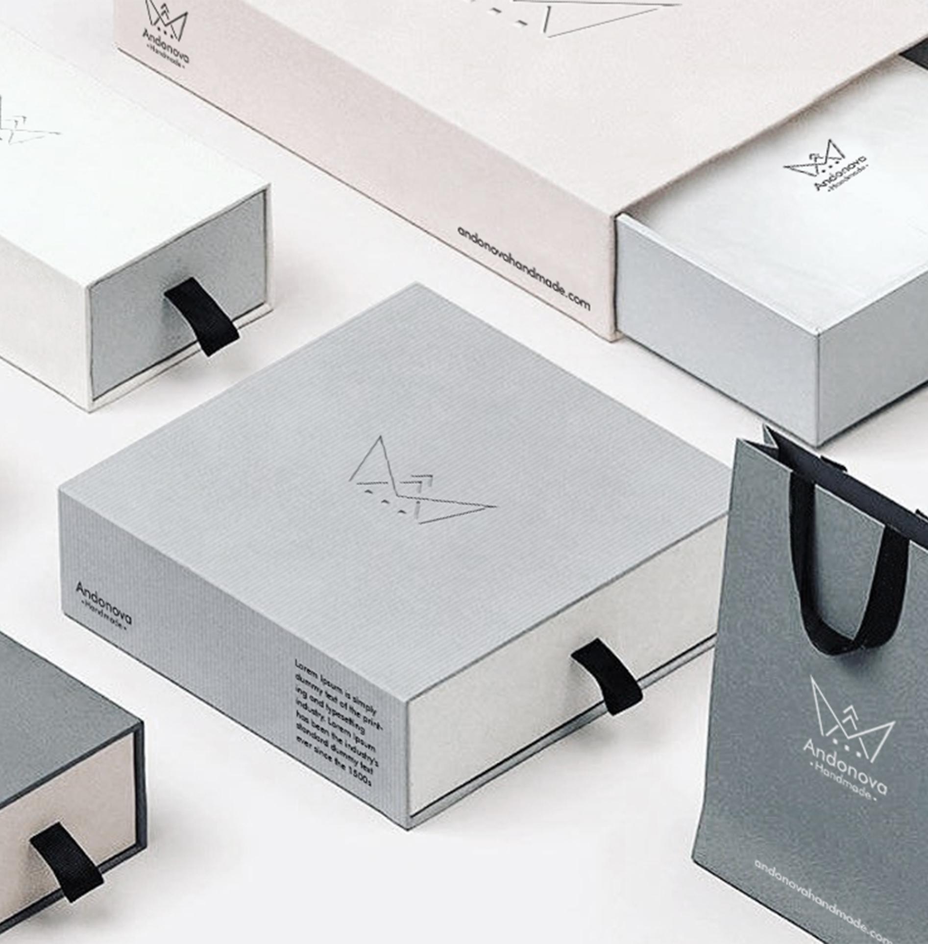 Packaging design for Andonova premium jewelry