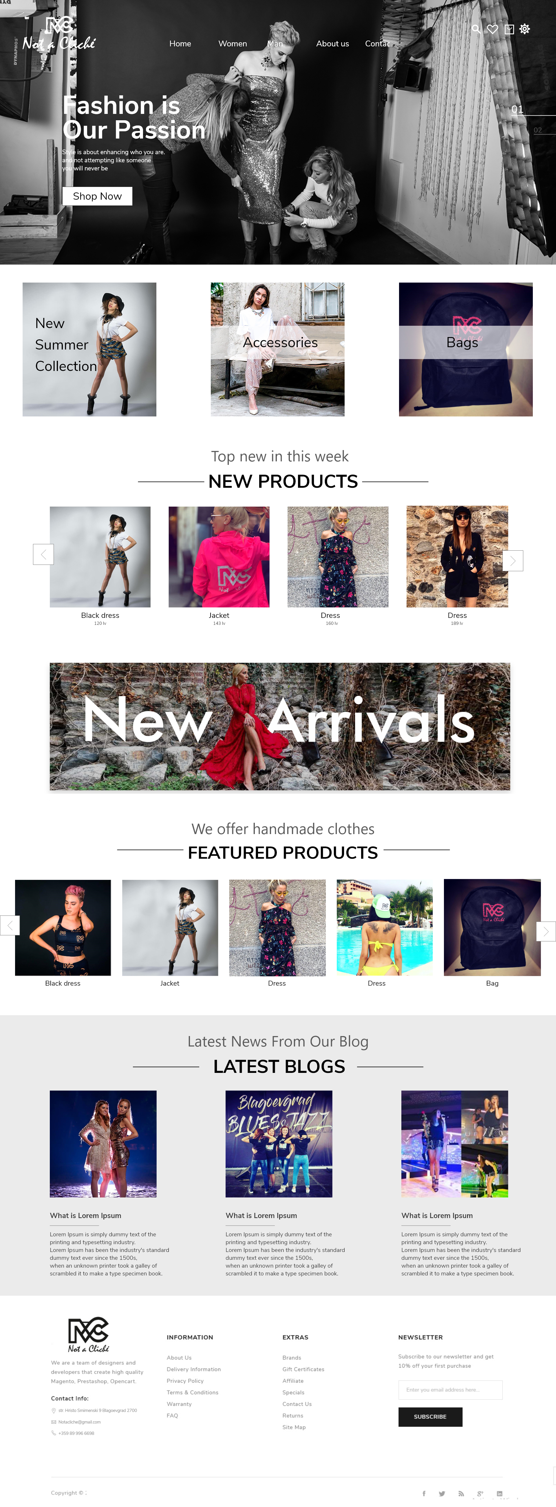 Online shop ecommerce fashion brand