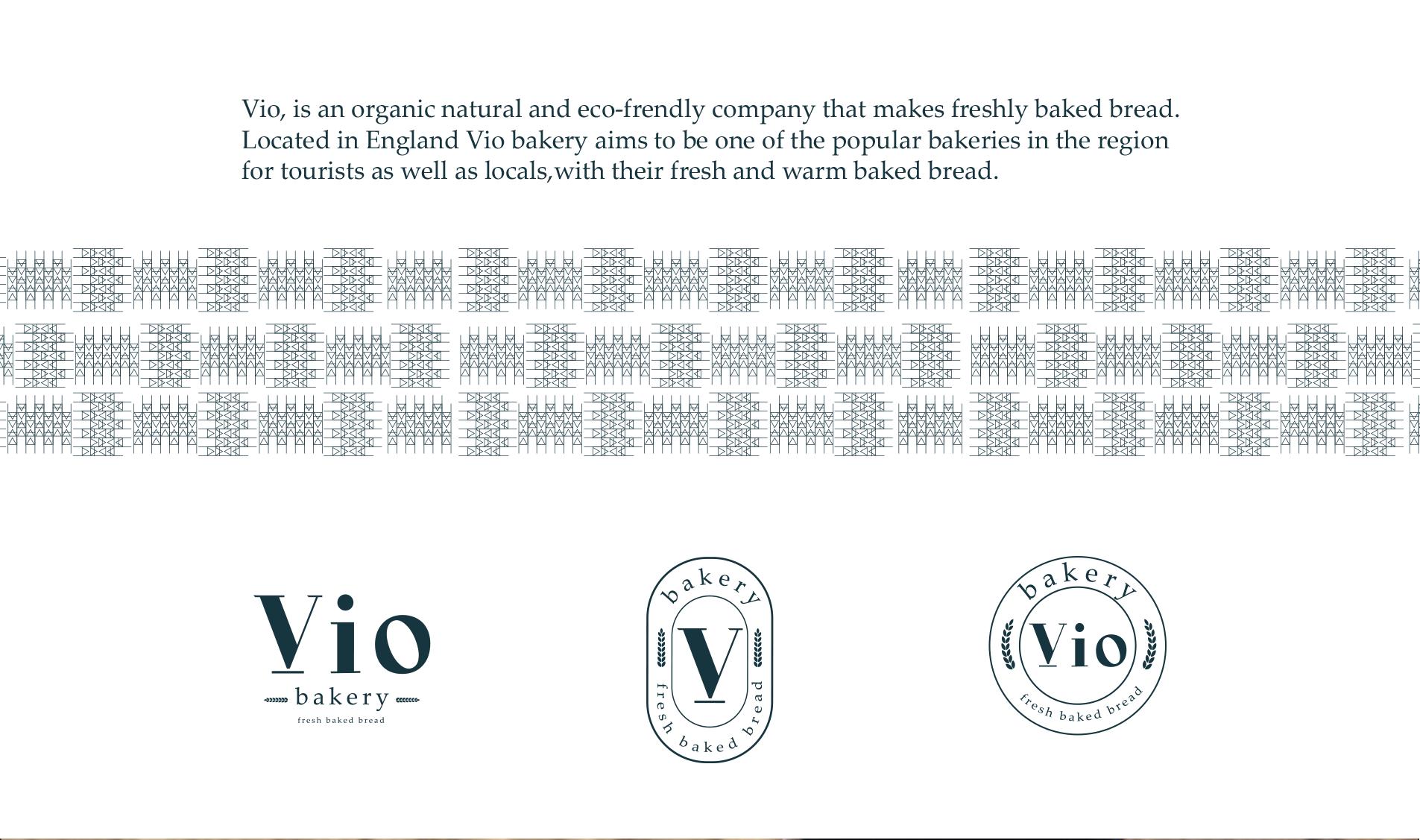 Logo option and pattern design bakery brand