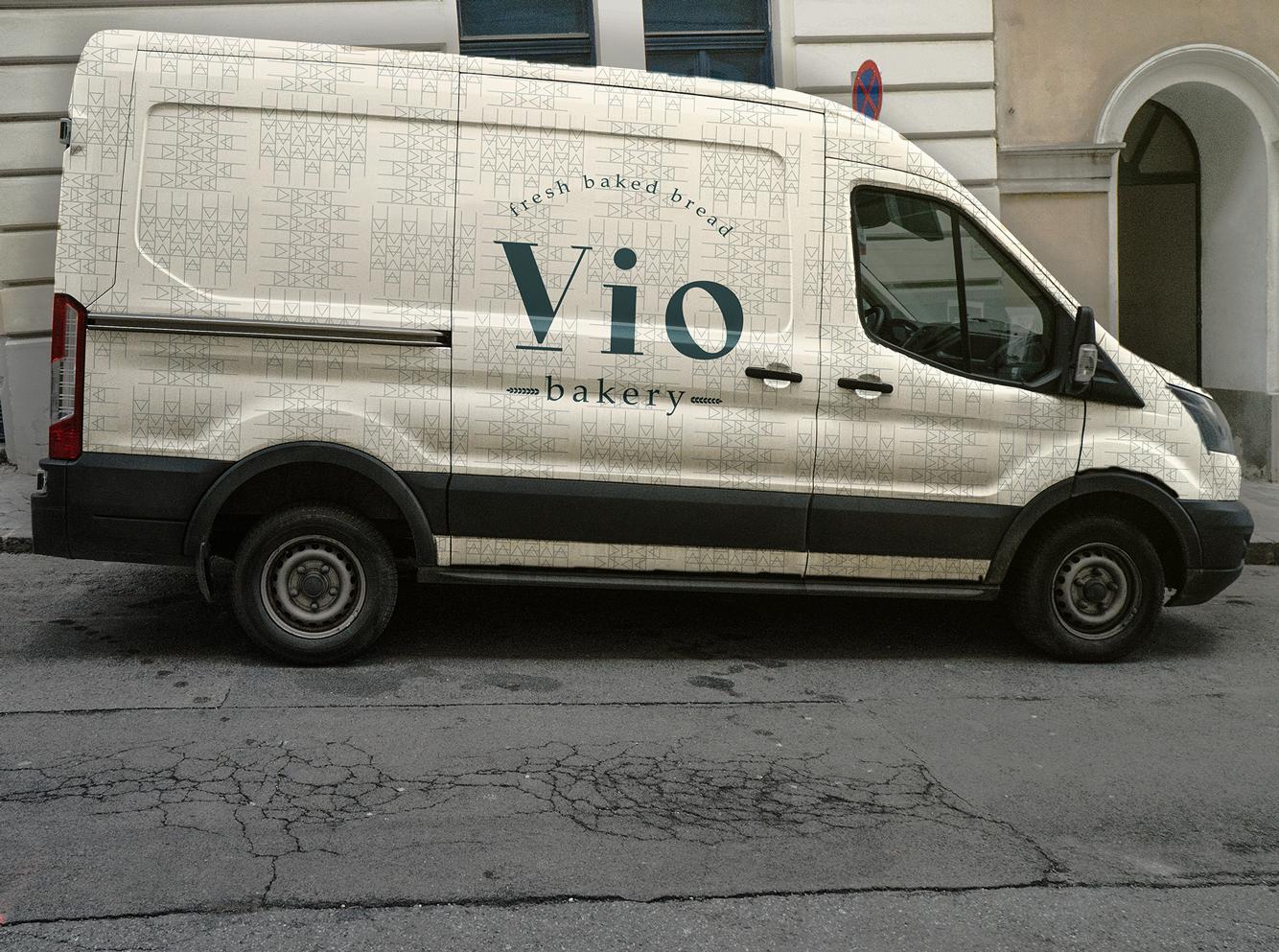 Car branding for bakery brand