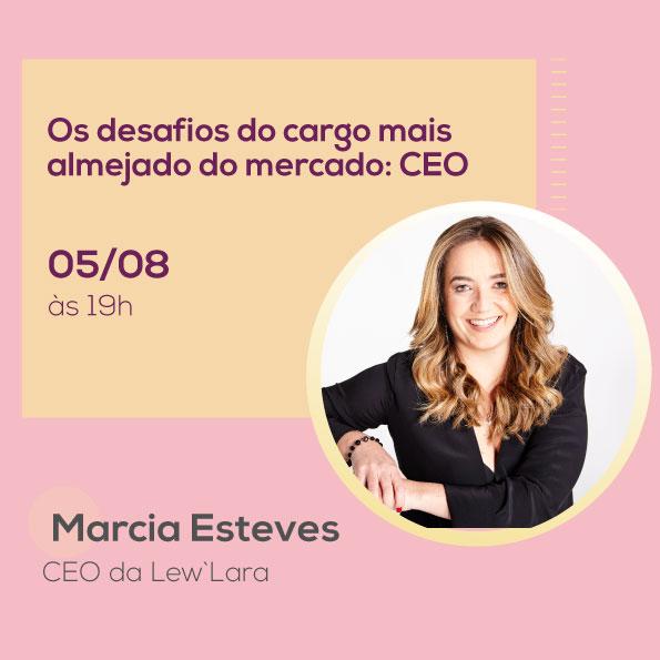 Márcia Esteves, no Mulheres no Comando