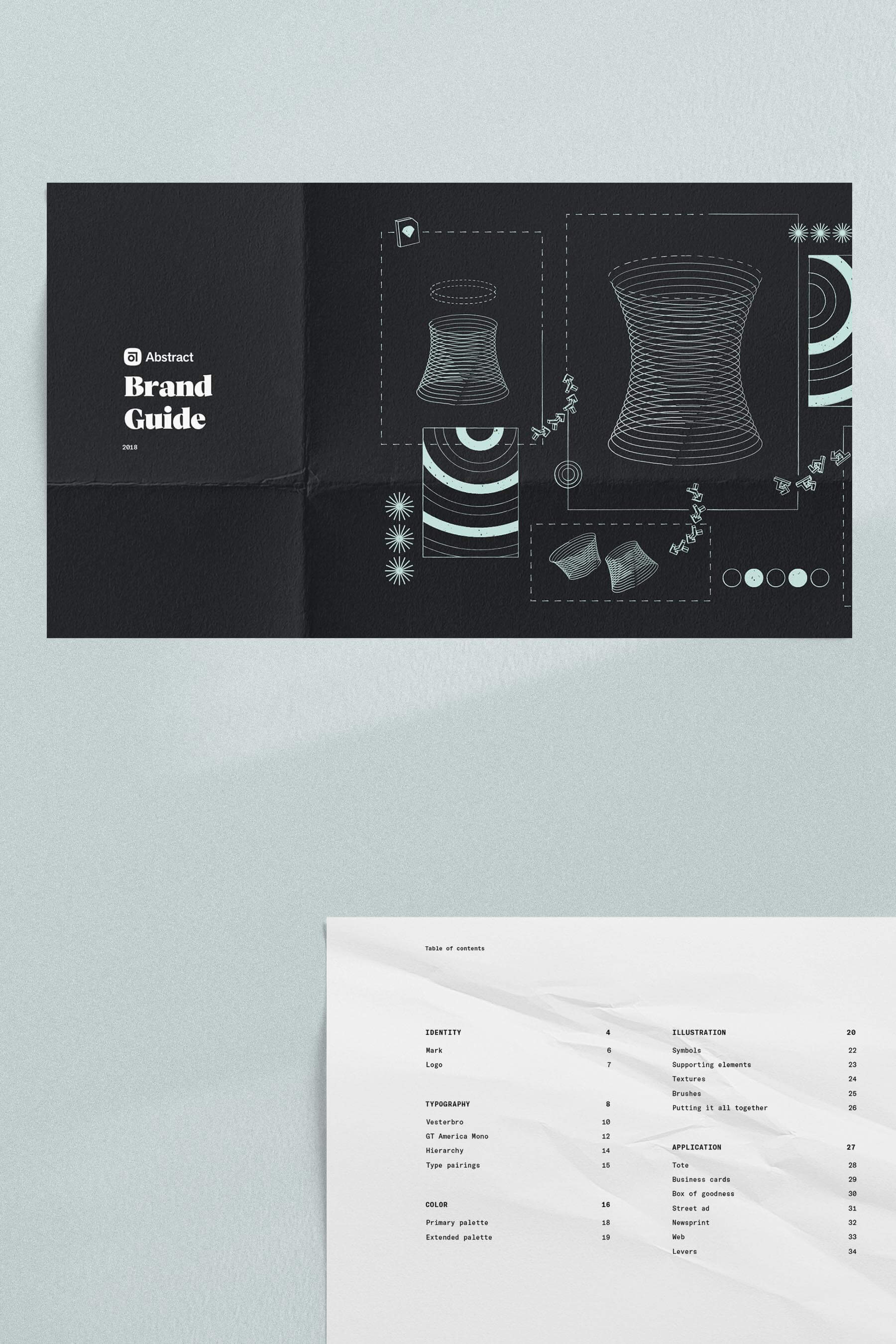 Abstract brand guide.