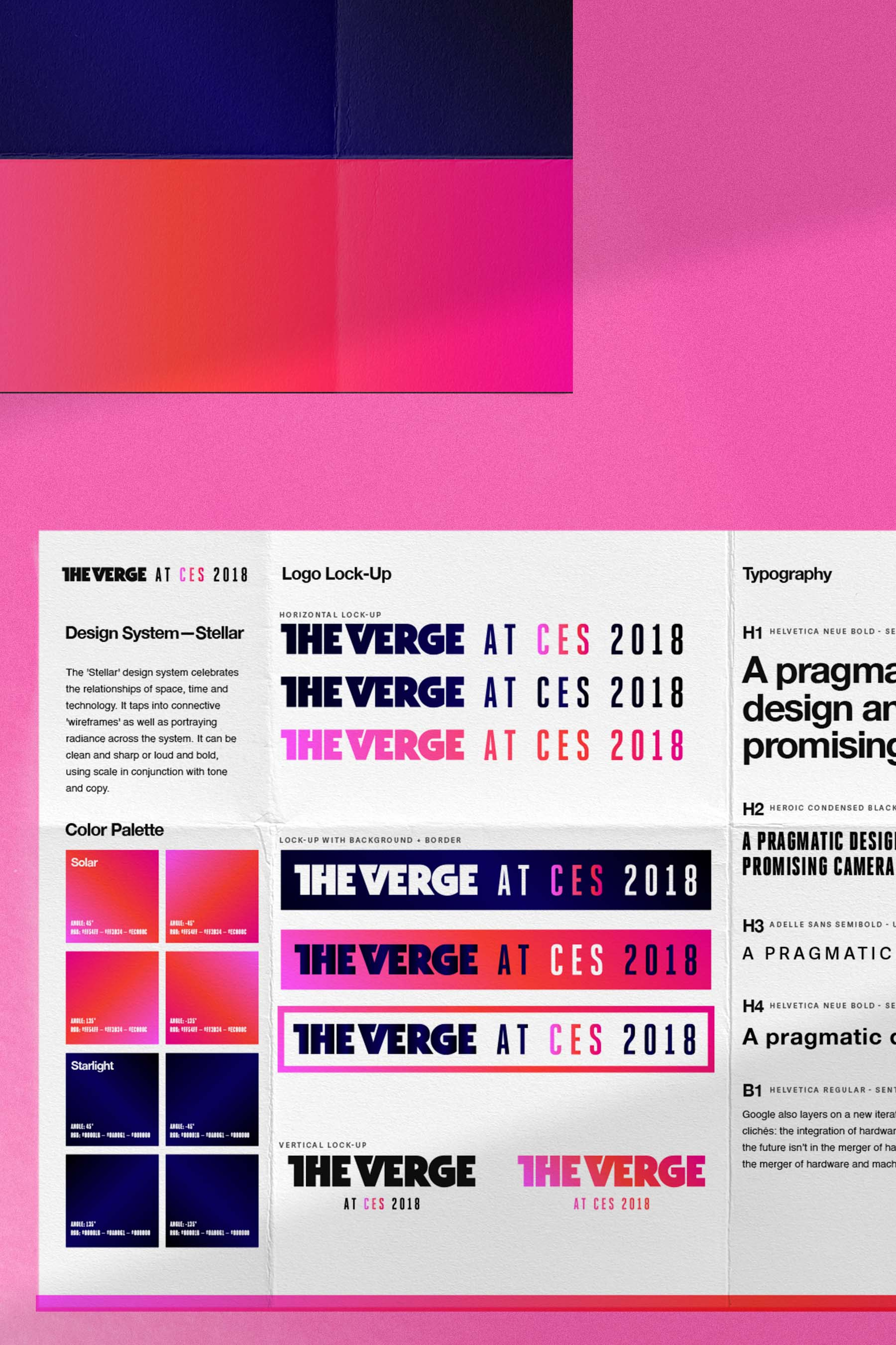 The Verge at CES 2018 visual identity.