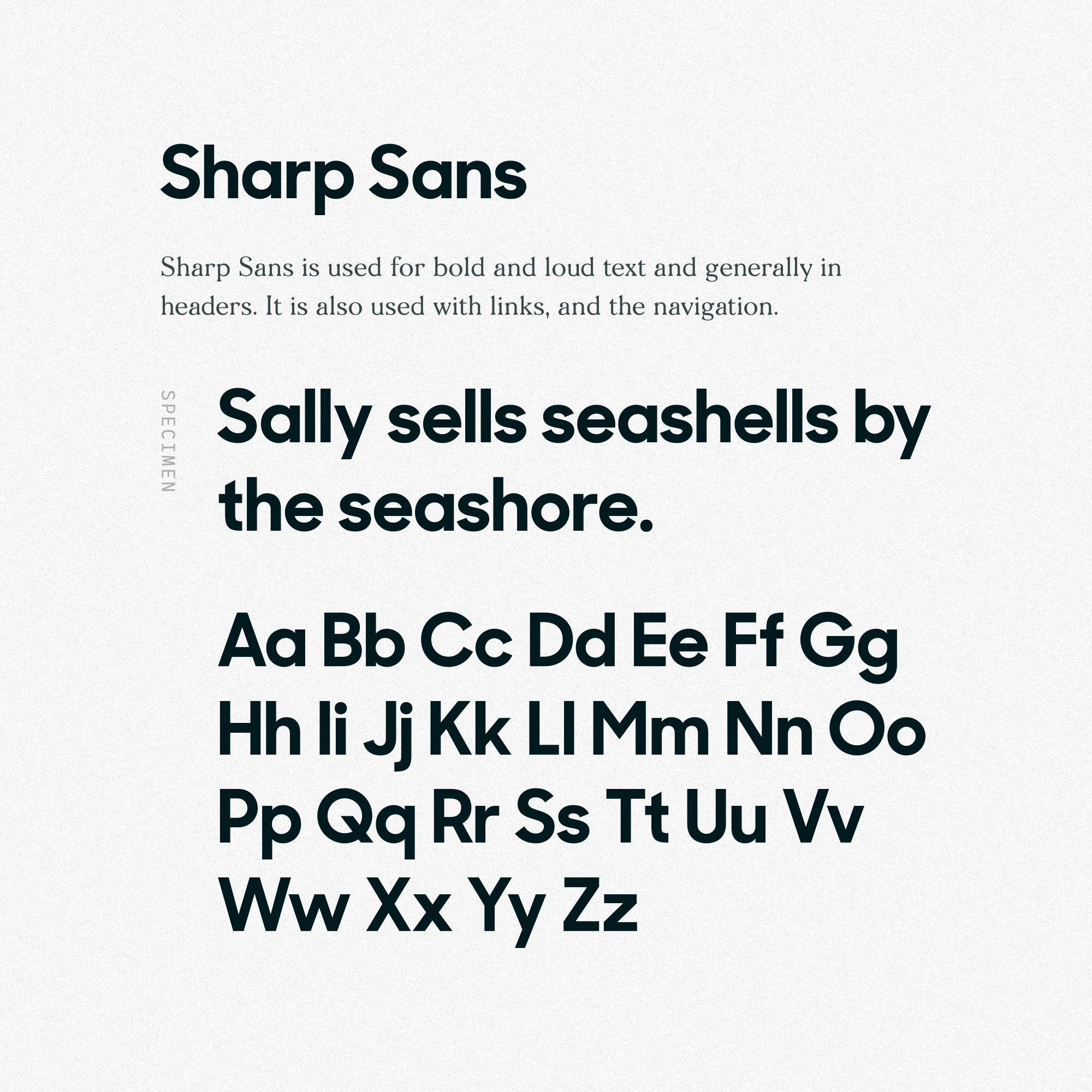 Sharp Sans by Commercial Type.