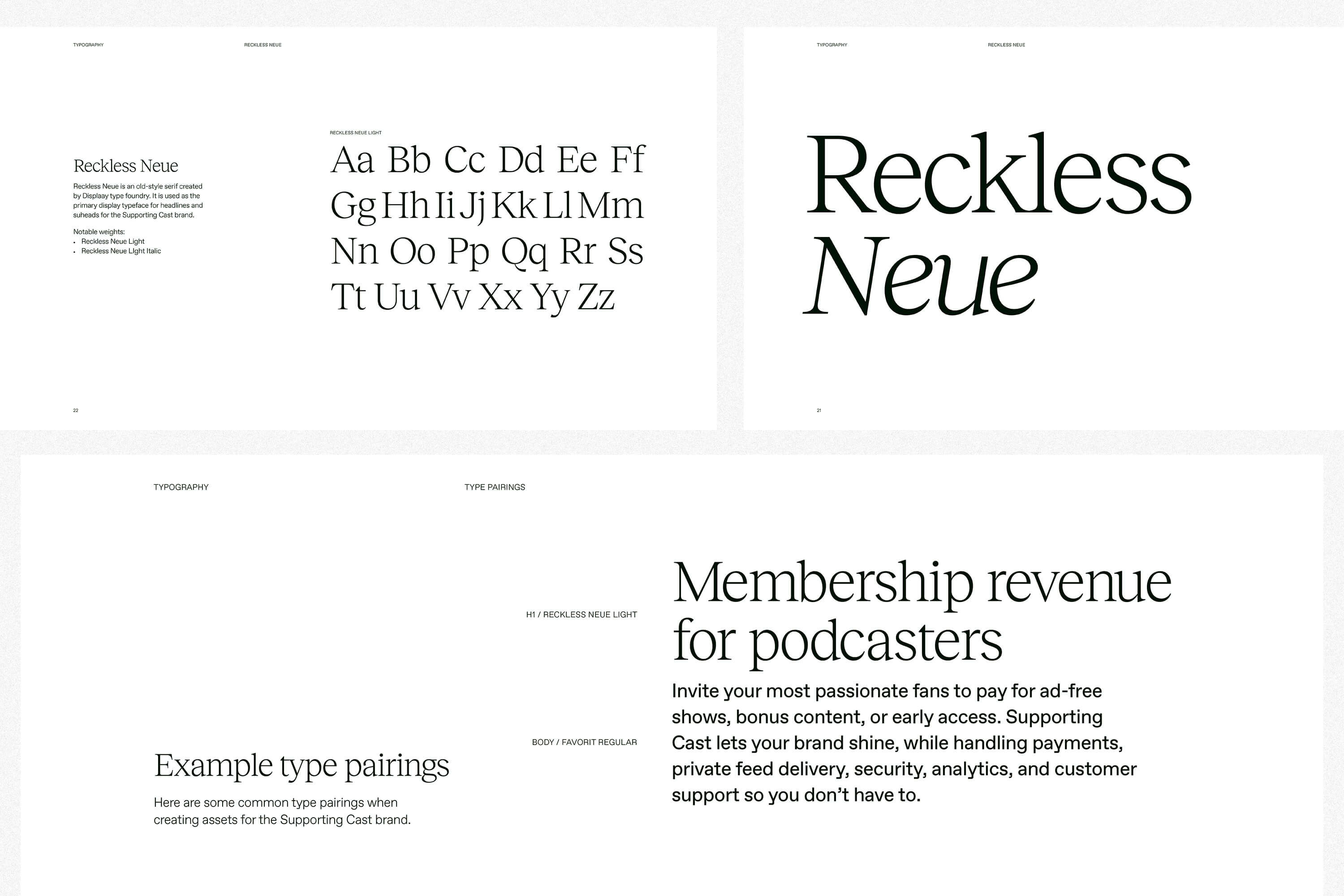 Typography guidelines.