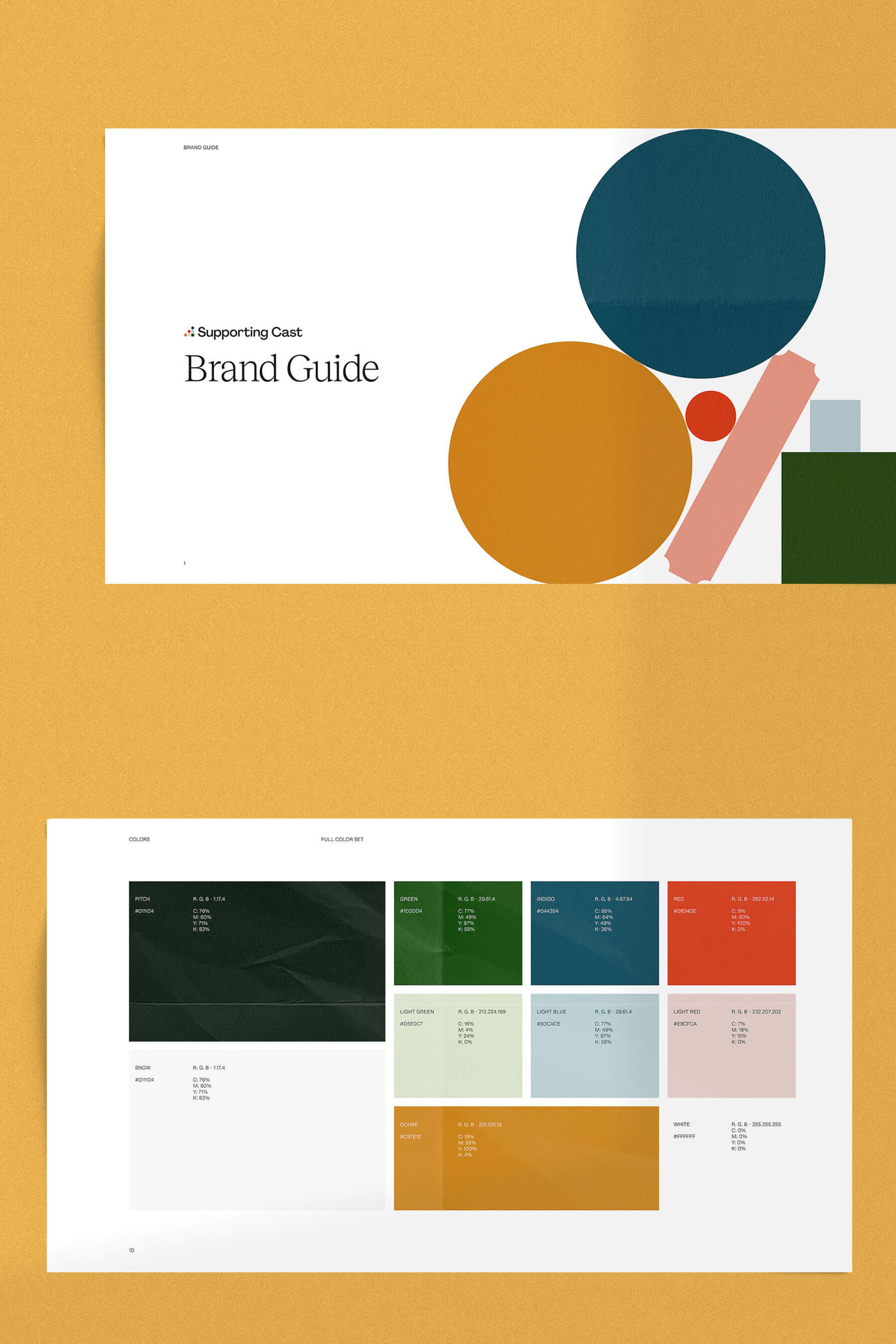Brand guide snippets.