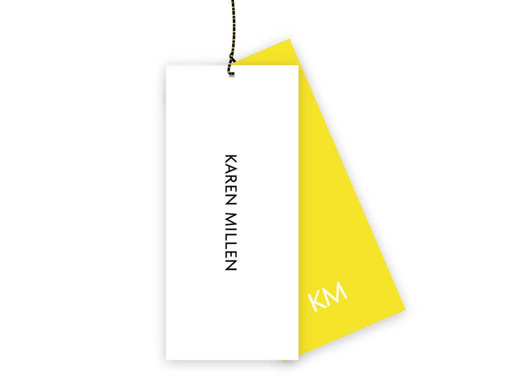 Karen Millen brand tag design garrett reil