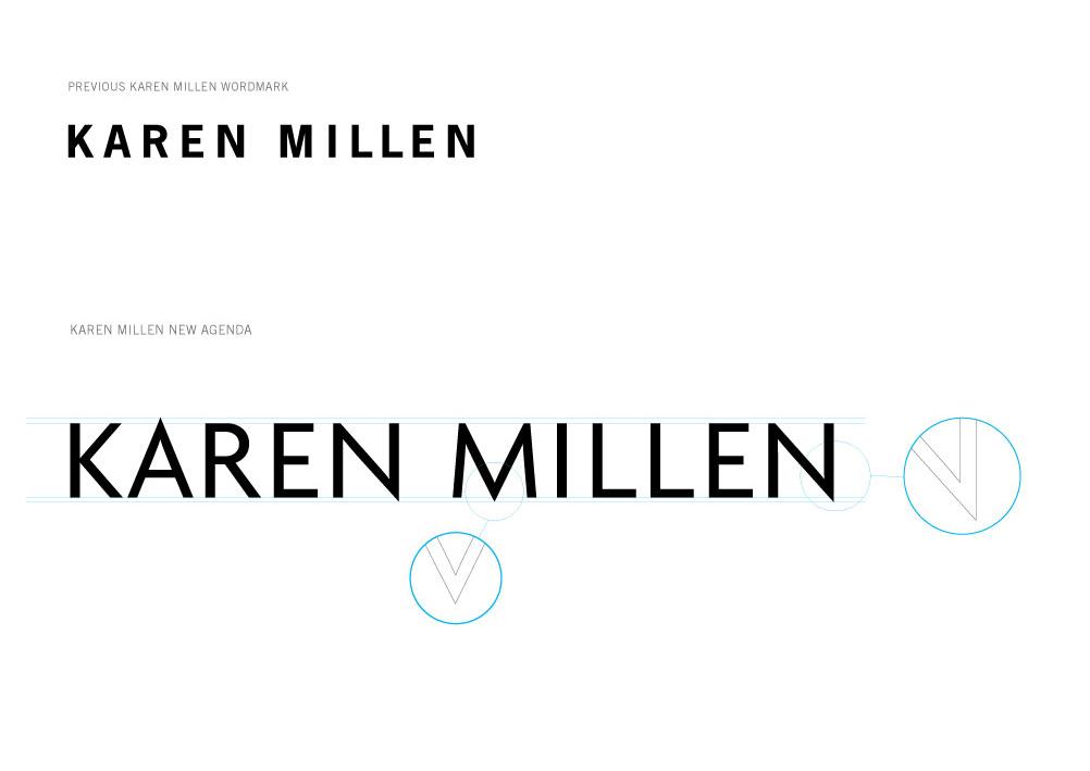 Karen Millen logotype design by Garrett reil
