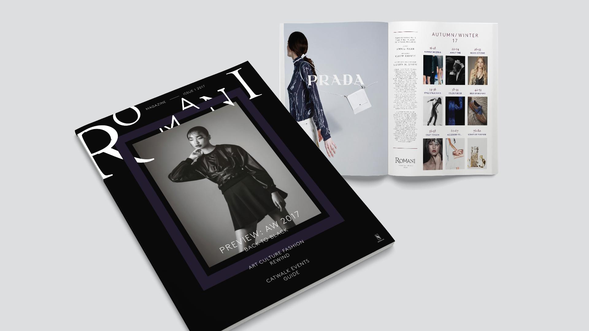 Magazine design for retail development by Garrett Reil