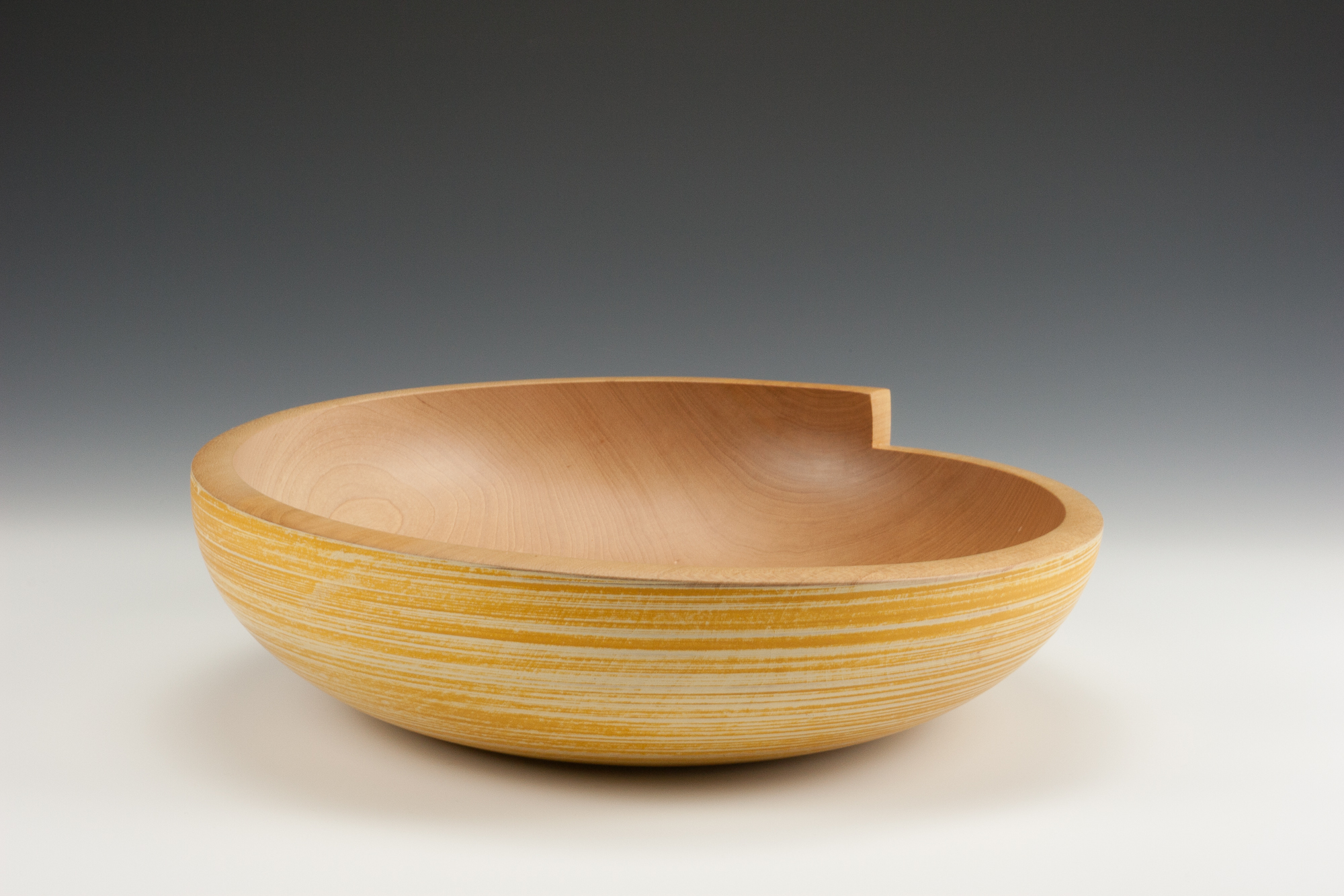 Yellow Bowl-Carved Rim