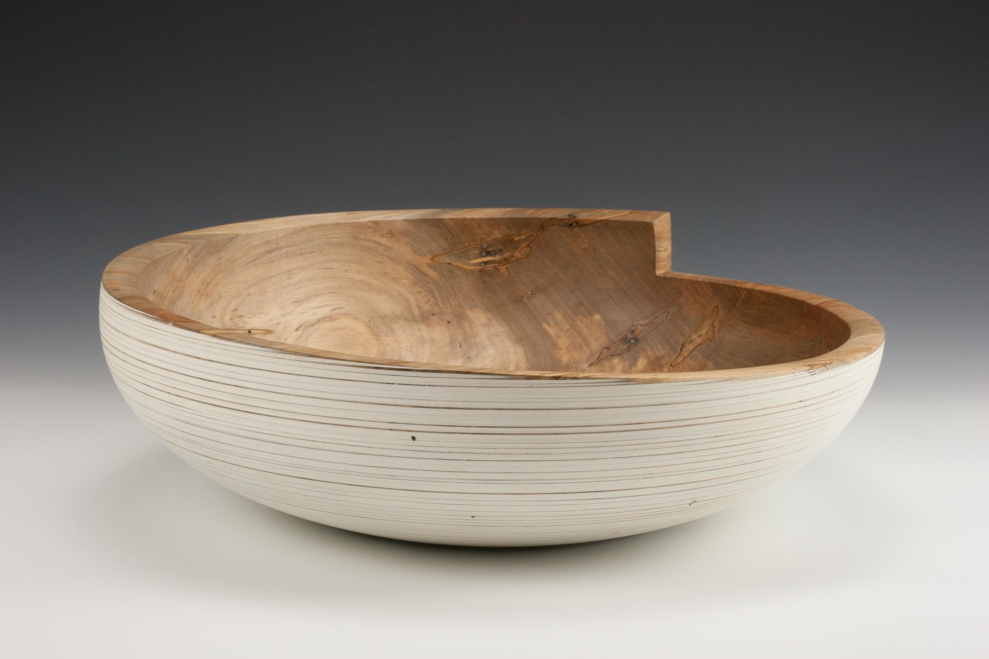 White Bowl - Carved Rim