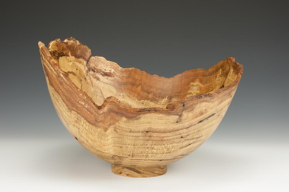 Red Oak Burl Bowl