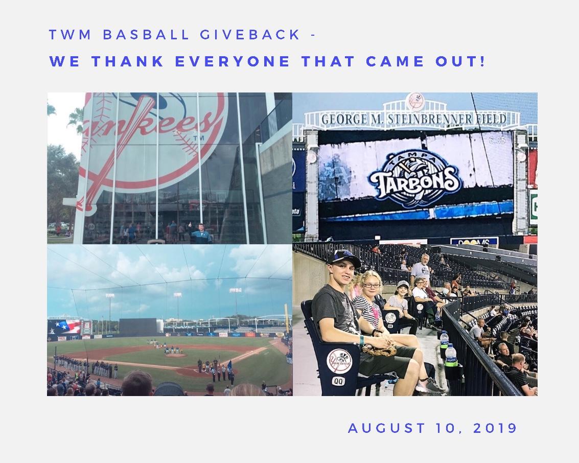 TWM Baseball Giveback
