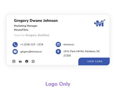 Choose from multiple email signature templates: logo only