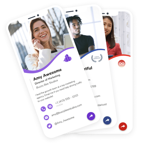 HiHello Digital Business Cards and Contact Manager app.