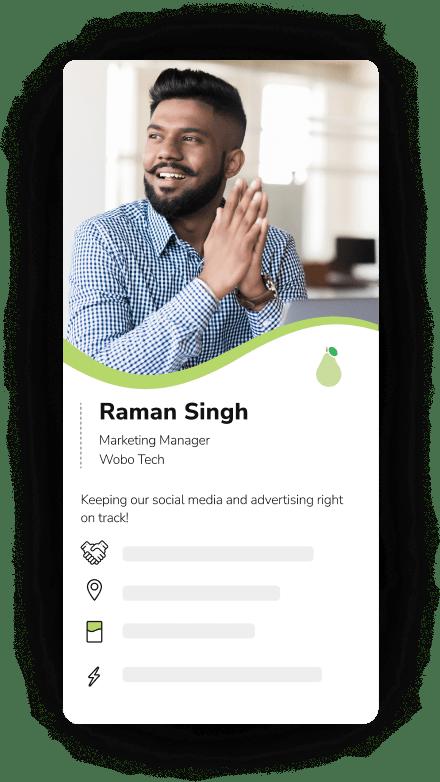 Professional branded digital visiting card